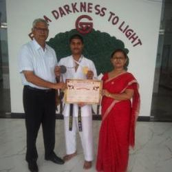 ADARSH SONKAR OF CLASS 11TH HAS BAGGED GOLD MEDAL IN 18TH NORTH INDIA KARATE CHAMPIONSHIP